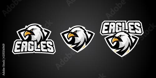 73c7dc028e3 eagle sport gaming logo vector badges emblem