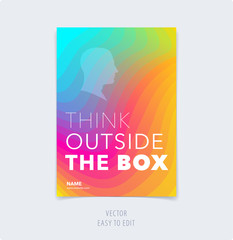 Abstract colourful graphic design of brochure in fluid liquid style with blurred smooth background.