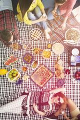 Healthy vegan food picnic