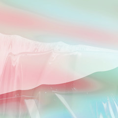 Shiny plastic background in beautiful pastel pink and blue colors with soft gradients and reflective designs