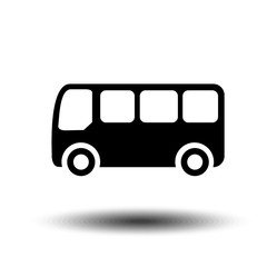Bus Icon in trendy flat style. Vector Illustration