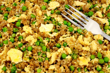 Chinese egg fried rice background