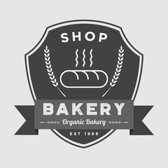 Bakery badge vector logo icon illustration
