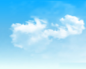 Blue sky with clouds.Vector background.