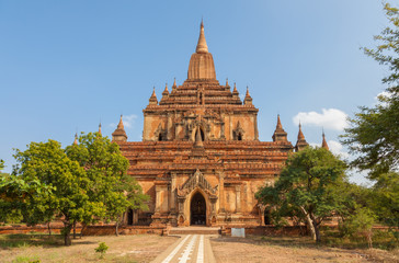 Sulamani Temple at Old Bagan archaeological zone in Myanmar.