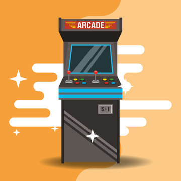 video game classic arcade machine vector illustration