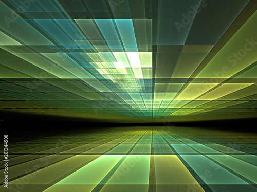 Virtual space - abstract render for topics such as