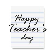 International Teacher day holiday greeting card. Vector.