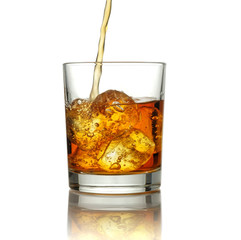 Pour into a glass of whiskey.