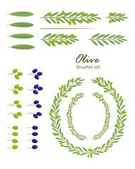 Olive brushes set