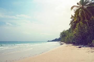 Tropical andaman seascape scenic off mai khao beach