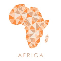 Africa triangles map
