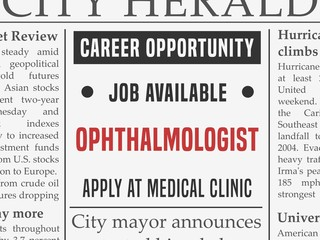 Ophthalmologist job