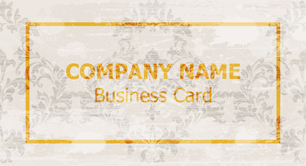 Business card layout design Vector. Ornamented backgrounds