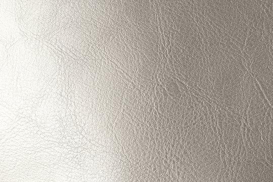 Silver Gradient Background. Silvery Brilliant Background. Gray Background of Genuine Leather