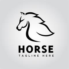 fast speed Run horse logo