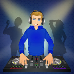 man DJ at the console