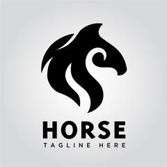 fire head horse logo
