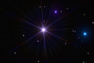 """Pulsar"" surrealistic / fantasy ultraviolet pulsar based on ""lot of stars"""