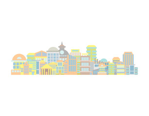 City landscape. Building and skyscraper. Town illustration vector
