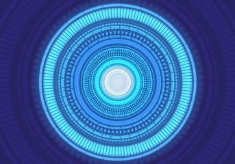 Abstract blue light circle energy power technology design modern futuristic background vector illustration.
