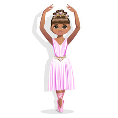 sweet little ballerina in a shiny dress
