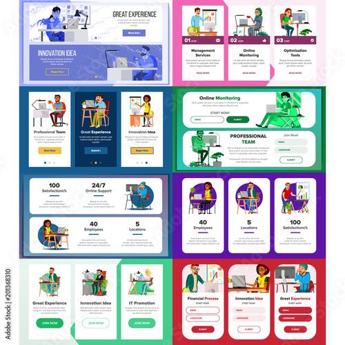 website banners set vector horizontal vertical site scheme
