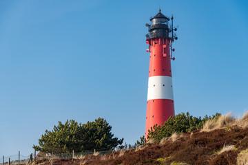 Dünen und Leuchtturm auf der Nordseeinsel Sylt