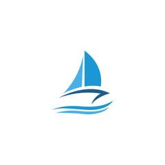 boat sailing logo