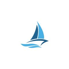 sailing boat vector logo