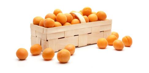 Aprikosen im Körbchen