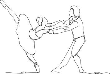 ballerina with dance partner