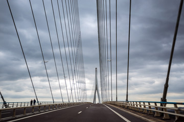 The Normandy Bridge in France