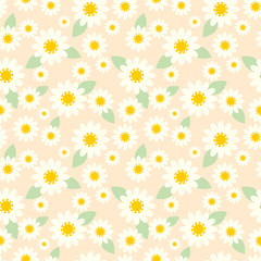 white tiny flower seamless pattern