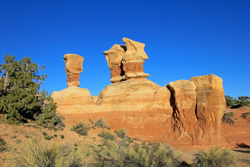 Hoodoos at Devil's Garden, Grand Staircase-Escalante National Monument, Utah, United States, USA