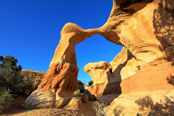 Metate Arch at Devil's Garden, Grand Staircase-Escalante National Monument, Utah, United States, USA