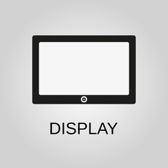 Display icon. Display symbol. Flat design. Stock - Vector illustration