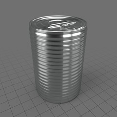 Metal pop top can