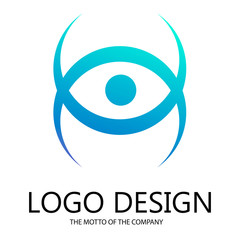 Abstract logo for business company. Element of corporate identity design. Eyes abstract eyes of evil