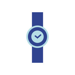 Vector Illustration. Flat watch icon
