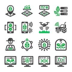 smart farm icon set