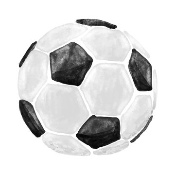 aquarell soccer ball