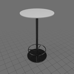 Bar table on stand