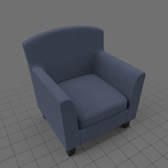 Blue fabric armchair