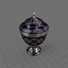 Decorative patterend urn