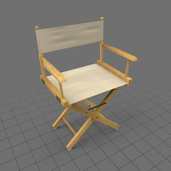 Blank director's chair