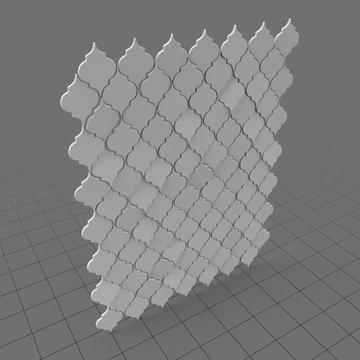 Decorative wall tiles (filigree)