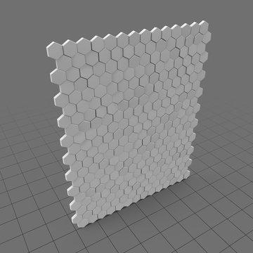 Decorative wall tiles (hexagons)