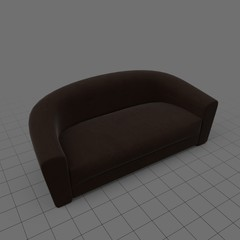 Sofa with curved back