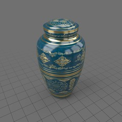 Decorative porcelain urn